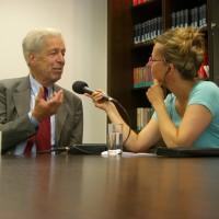 Interview-Marathon für DCV-Präsident Henning Scherf kurz vor dem Chorfest-Start