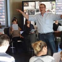 Von Loopsongs bis Beatbox – der erste Workshop-Tag bei Chor@Berlin