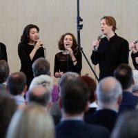BuJazzO-Vokalensemble bei der Chorfest-Eröffnung